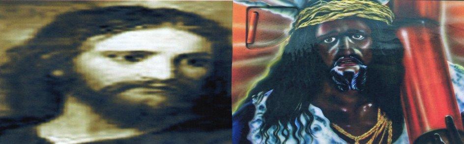 b&w Christ